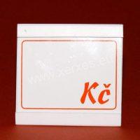 UNI cenovka 65 x 65 mm s výměnným štítkem_stojánek