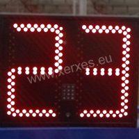 fotbalová střídací tabulka_červená