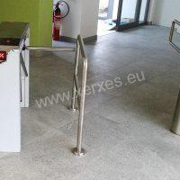 instalace turniketu a motorické branky s vymezovacím zábradlím_vstup do bazénu Roudnice nad Labem