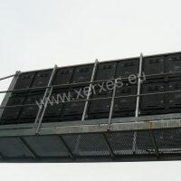 konstrukce pochozí lávky pro servis LED obrazovky 5x3 m ve Frýdku-Místku