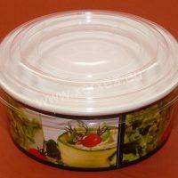 miska na salát s transparentním víkem