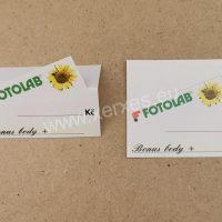 papírová stojánková cenovka_FOTOLAB bonus body