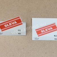 papírová stojánková cenovka_SLEVA