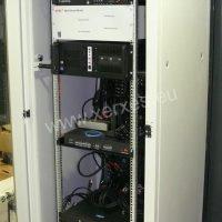 racková skříň režie a řízení multimediální LED kostky na ZS Chomutov